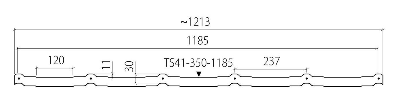 Фото схематических размеров модуля Ruukki Frigge