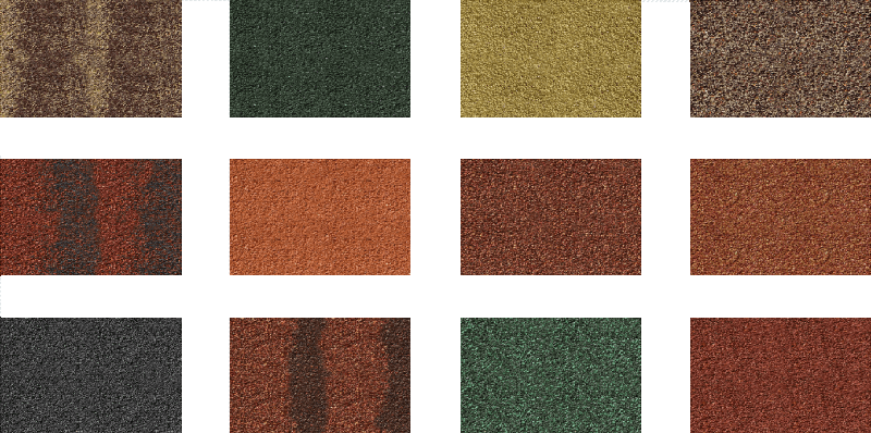 Фото возможных цветов МетроБонда